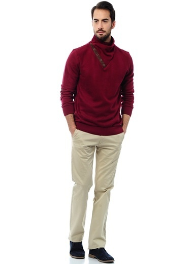 Asymmetry Sweatshirt Bordo